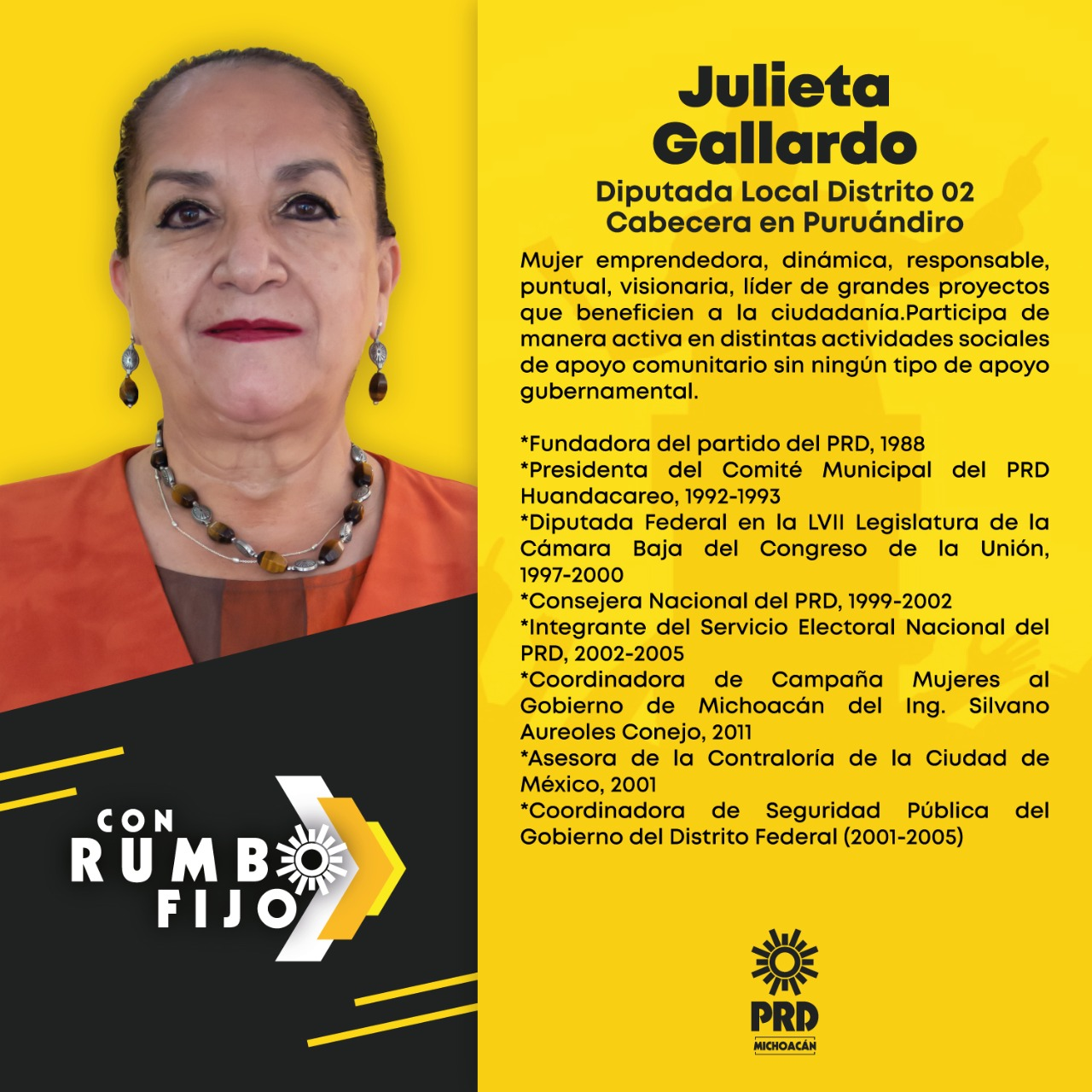 Julieta Gallardo, Diputada local Distrito 02 Cabecera en Puruándiro