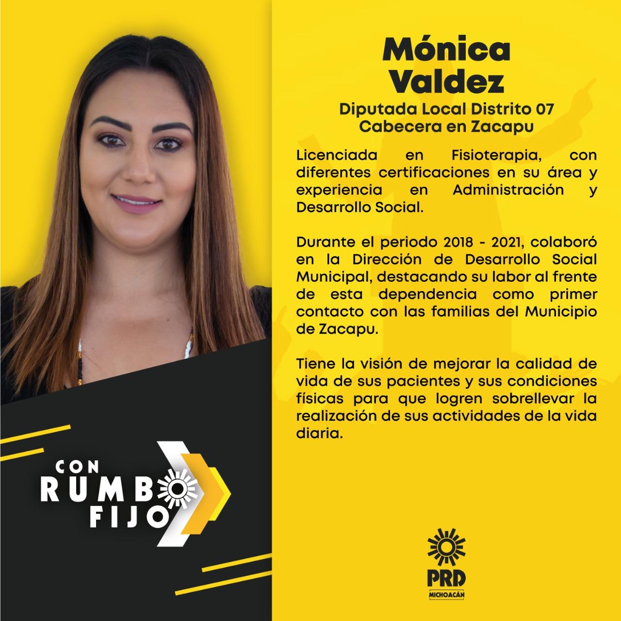 FMónica Valdez, Diputada local Distrito 07 Cabecera en Zacapu
